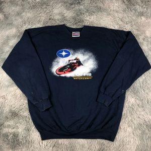 Vintage POLARIS Watercraft Jet Ski Sweatshirt XL